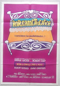 Bob Carol Ted Alice, Original Argentinian Movie Poster, Natalie Wood, '69